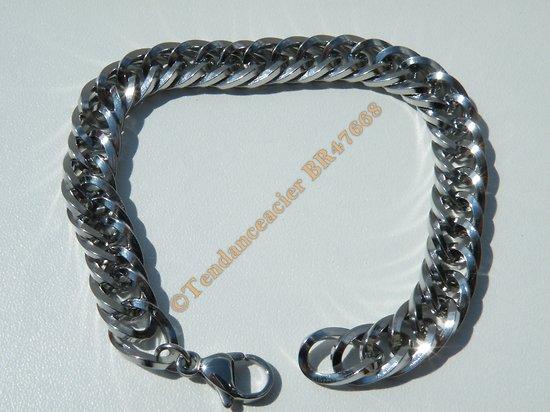Bracelet Maille Gourmette Ovale Libre 9 mm Pur AcierChirurgical  Inoxydable Argenté 20 cm