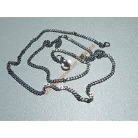 Chaine Collier 51 cm Style Maille Gourmette Argenté Pur Acier Inoxydable Chirurgical 2 mm