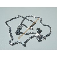 Chaine Collier 45 cm Style Maille Ovale Argenté Pur Acier Inoxydable Chirurgical 1,9 mm