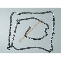 Chaine Collier 71 cm Style Maille Forçat Jaseron Rectangle Argenté Pur Acier Inoxydable  Chirurgical 2,5 mm