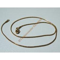 Chaine Collier Ras de Cou Souple 40 cm Style Maille Serpentine Doré Pur Acier Inoxydable Chirurgical 1,2 mm