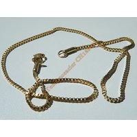 Chaine Collier 41 cm Style Maille Vénitienne Doré Plaqué Or Pur Acier Inoxydable Chirurgical 1,5 mm