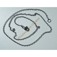 Chaine Collier 45 cm Style Maille Jaseron Argenté Pur Acier Inoxydable  Chirurgical 1,8 mm
