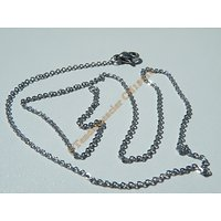 Collier 45 cm Chaine Style Maille Jaseron Argenté Pur Acier Inoxydable  Chirurgical 1,9 mm