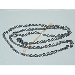 Chaine Collier 50 cm Style Maille Jaseron Argenté Pur Acier Inoxydable Chirurgical 2,2 mm