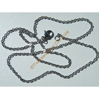 Chaine Collier 45 cm Style Maille Jaseron Argentée Or Pur Acier Inoxydable Chirurgical 1,8 mm