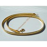 Chaine Collier Ras de Cou 45 cm Style Maille Serpentine Incurvé Doré Plaqué Or Pur Acier Inoxydable Chirurgical 6 mm