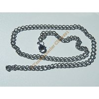 Chaine Collier 39 cm Style Maille Gourmette Fantaisie Argenté Pur Acier Inoxydable  Chirurgical 4,2 mm