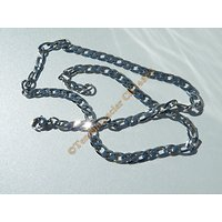 Chaine Collier 45 cm Maille Figaro 1+1 Argenté Pur Acier Inoxydable Chirurgical 4,8 mm