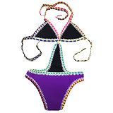 Maillot de bain 1 pièce Violet mauve Crochet Néoprène grande taille XXL