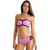 Maillot de bain bandeau souple Rose Bustier Push Up Bikini XL