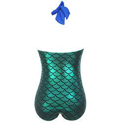 Maillot de bain  1 piece Bleu Vert Métal Siréne Sexy XXXL 3XL