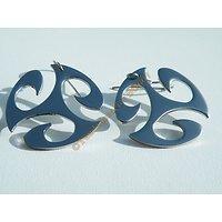 Boucles d'Oreilles Pendantes Trio Tribale Style Basque Pur Acier Inoxydable