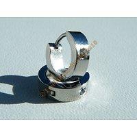 Boucles d'Oreilles Acier Inoxydable Créoles 3 mm Argenté 1 Strass Zircon