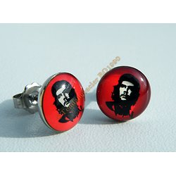 Boucles d'Oreilles Acier Inoxydable Clous Le Ché Guevara Révolution Cuba