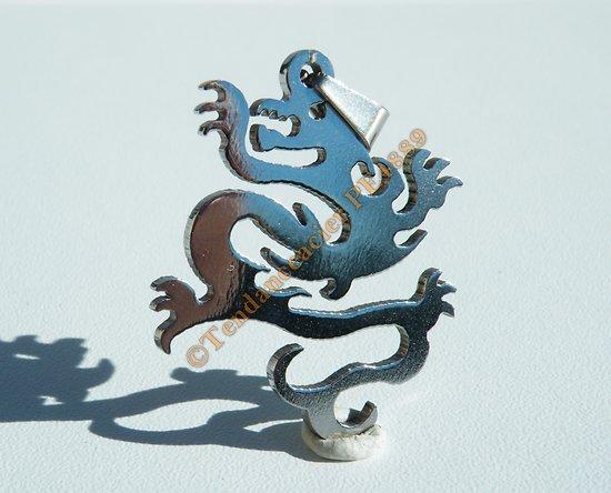 Pendentif Pur Acier Inoxydable Grand Dragon Asie Signe Chine Stylé