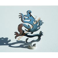 Pendentif Pur Acier Inoxydable Grand Dragon Asie Signe Chine Stylé