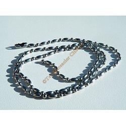 Collier Chaine Acier Inoxydable Boules Haricots Arrondies 2.5 mm