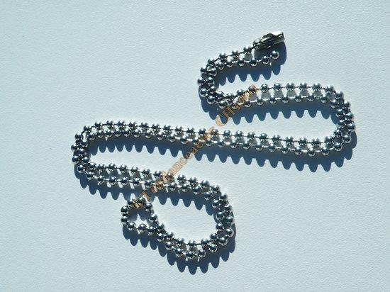 Collier Chaine Longue 60 cm Acier Inoxydable Boules 3 mm