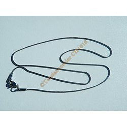 Chaine Serpentine Acier Inoxydable Argenté 46 cm Serpent 0,9 mm