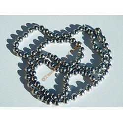 Collier Chaine Longue 60 cm Pur Acier Inoxydable Boules 5 mm