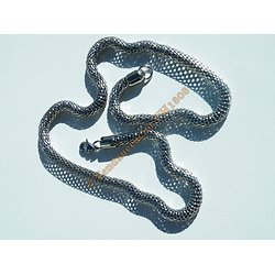 Collier Chaine Serpentine Acier Inoxydable Maille Snake 6 mm
