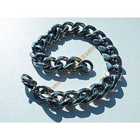Bracelet Gourmette Epaisse 4 mm Pur Acier Inoxydable Mode Large 10 mm