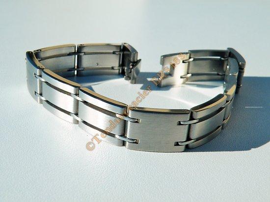 Bracelet Gourmette Homme Acier Inoxydable Découpe Argenté Vierge 12 mm