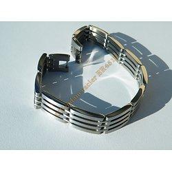 Bracelet Gourmette Pur Acier Inoxydable 4 Rangs Découpes Tribal Vierge 12 mm
