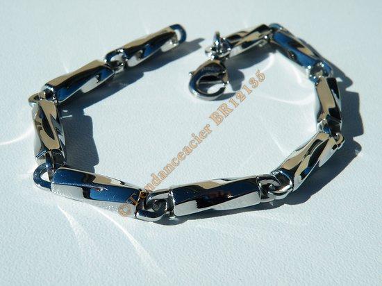 Bracelet Berlingot Torsadés 5 mm Argenté Pur Acier Inoxydable Brillant