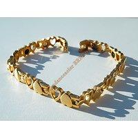 Bracelet Multi Coeurs Pur Acier Inoxydable Doré Plaqué Or Aimants Mode Fashion Magnétique