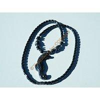 Collier Pendentif Hippocampe Cheval de Mer Hématite Litothérapie