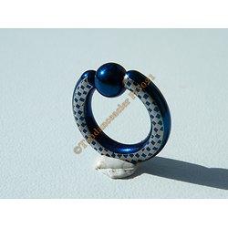 Piercing Captive Acier Titane Bleu Fluo 2,5 cm