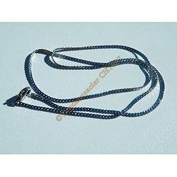 Chaine 45 cm Serpentine Pur Acier Inoxydable Fine Plate 1,5 mm
