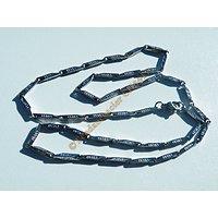 Chaine 49 cm Acier Inoxydable Berlingots Motifs Tribal Celte 1,5 mm