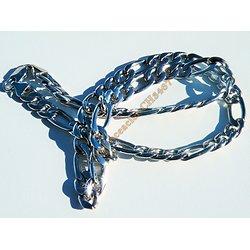 Chaine 61 cm Pur Acier Inoxydable Maille Cheval 10 mm Argenté