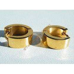 Boucles d'oreilles Créoles Acier Inoxydable Doré Plaqué Or 6 mm Vierge
