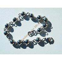 Bracelet 19 cm Pur Acier Inoxydable Boules 6 mm Argenté