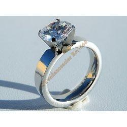 Bague Alliance Cz Zirconium Diamant 8 mm Acier Inoxydable Mariage