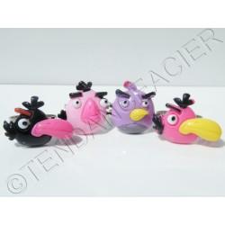 Bague Lot de 4 Bagues Alliance Fantaisie Enfant Ajustable Angry Birds Oiseau Manga Fille