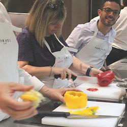 Aiguillette de canette, célérisotto - Carpacaccio ananas et coriandre