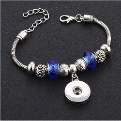 BRACELET PERLES BLEUES VERSION 2