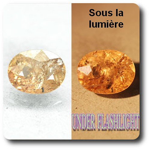 2.97 cts AXINITE (Fe) COULEUR CHANGEANTE . SI1 France