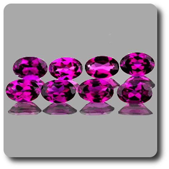 0.46 cts GRENAT Rhodolite Rose. 6x4 MM . IF-VVS1 ( vendu à l'unité ) Afrique