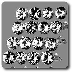 0.07 cts SAPHIR BLANC . 2,40 MM. IF - VVS1 ( vendu à l'unité ) Ceylan, Sri Lanka
