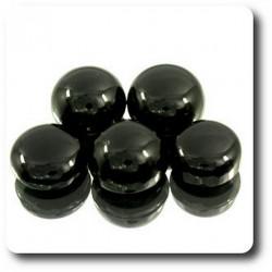9.70 cts LOT DE 5 BLACK ONYX Thailande