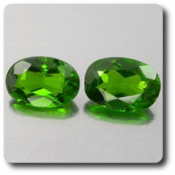 1.07 cts LOT DE 2 CHROME DIOPSIDE .SI1 Russie