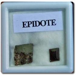 EPIDOTE + CRISTAL D' EPIDOTE Birmanie