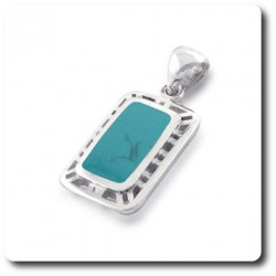 PENDENTIF Turquoise. 4.00 g Argent 925