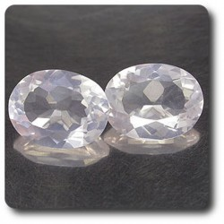 3.14 cts LOT DE 2 QUARTZ ROSE. VS Madagascar